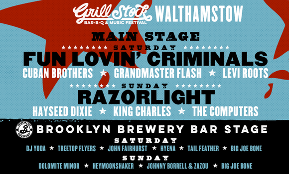 Grillstock London 2015 Line-up