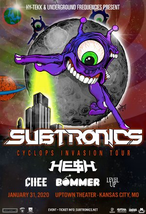 Subtronics 'Cyclops Invasion Tour' - Kansas City, MO - 01/31 photo