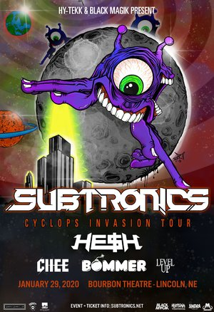 Subtronics 'Cyclops Invasion Tour' - Lincoln, NE - 01/29 photo