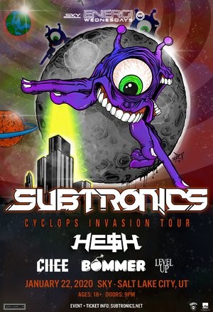 Subtronics 'Cyclops Invasion Tour' - Salt Lake City, UT - 01/22 photo