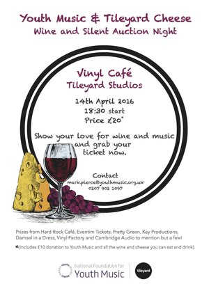 Youth Music & Tileyard Cheese, Wine and Silent Auction Night