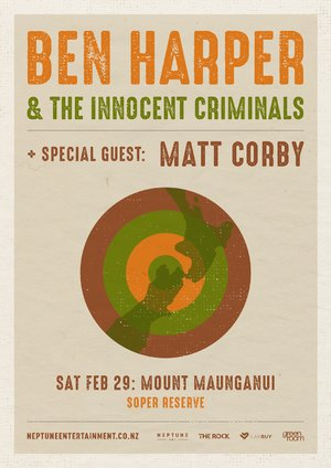 Ben Harper & Matt Corby - Mt Maunganui photo