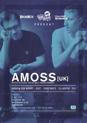 Amoss [UK] pres. by Flying Fortress, Haunted Science & Breakneck photo
