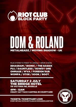 RIOT CLUB BLOCK PARTY feat. DOM & ROLAND