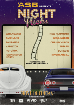 ASB Presents: Drive In Cinema- Palmerston North NEW DATE photo