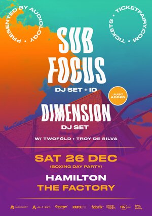 Sub Focus & Dimension - Hamilton photo