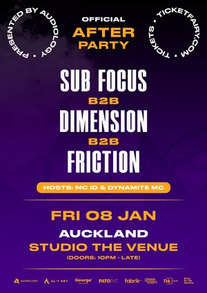 The Afterparty: Sub Focus B2B Dimension B2B Friction | Auckland photo