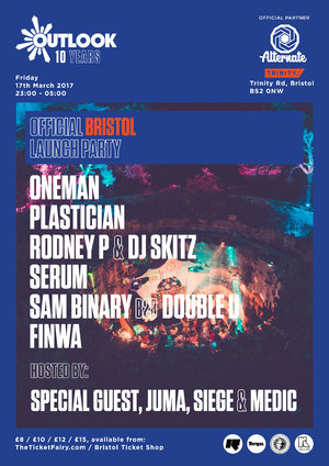 Alternate » Outlook Festival '10' - Bristol Launch Party 2017