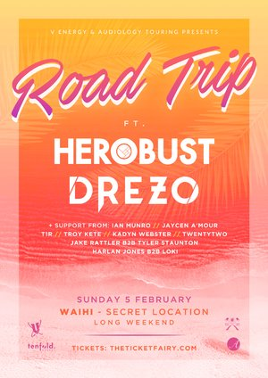 ROAD TRIP to Waihi ft. Herobust, Drezo & more (Secret Location)