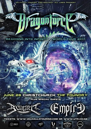 Dragonforce 'Reaching into Infinity' NZ Tour - Christchurch photo