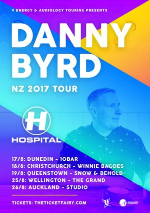DANNY BYRD (Hospital Records, UK) - Christchurch show photo