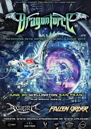 Dragonforce 'Reaching into Infinity' NZ Tour - Wellington photo