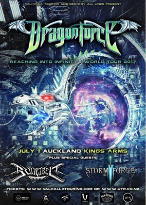 Dragonforce 'Reaching into Infinity' NZ Tour - Auckland