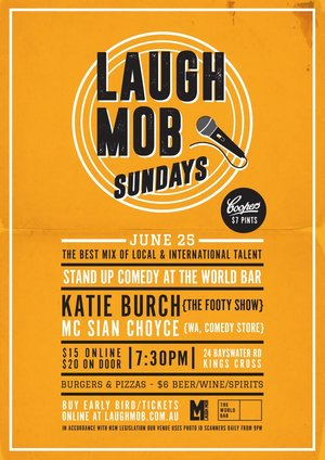 Laugh Mob Sundays @ The World Bar feat. Katie Burch photo