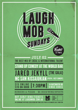 Laugh Mob Sundays @ The World Bar feat. Jared Jekyll (The Gala) photo