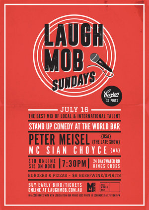 Laugh Mob Sundays feat. Peter Meisel (USA / The Late Show)