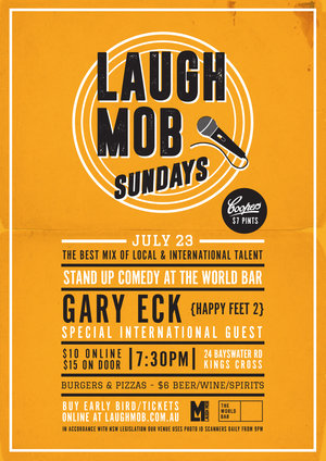 Laugh Mob Sundays @ The World Bar feat. Gary Eck (Happy Feet 2) photo