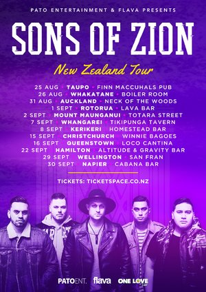 SONS of ZION - Napier Show 30th September photo