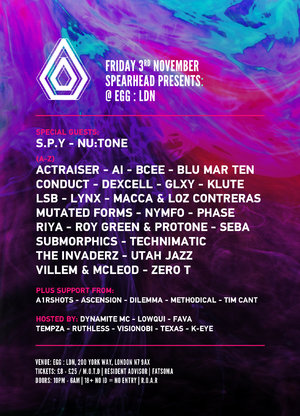 Spearhead Presents - EGG LDN - 5 arenas of uplifting D&B