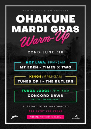 Ohakune Mardi Gras: Warm Up Party 2018