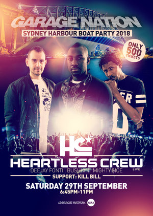 GARAGE NATION ft HEARTLESS CREW (Boat Party)