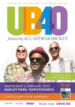 UB40 ft. Ali, Astro & Mickey - Christchurch photo