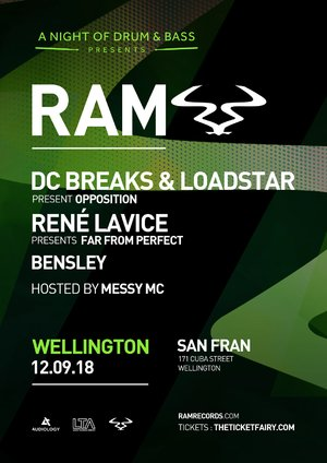 RAM Records ft. DC Breaks & Loadstar, Rene Lavice + More (Wgtn) photo