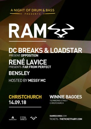 RAM Records ft. DC Breaks & Loadstar, Rene Lavice + More (Chch) photo