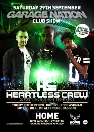 CLUB SHOW: Garage Nation feat HEARTLESS CREW photo