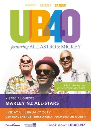 UB40 ft. Ali, Astro & Mickey - Palmerston North