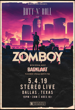 Zomboy Rott N' Roll Tour 2019 - DALLAS, TX photo