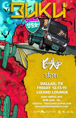 BUKU's 'Cruisin' Tour - Dallas, TX - 12/13 photo