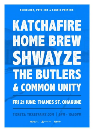 (Event refunded) *Katchafire, Shwayze, Home Brew & more (Ohakune)