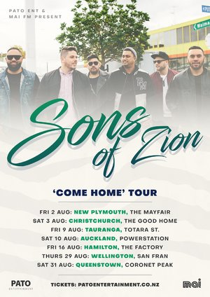 Sons of Zion 'Come Home' Tour - New Plymouth