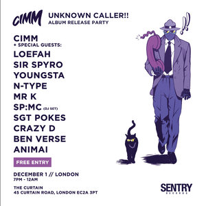 Cimm: Unknown Caller (Album Release Party)