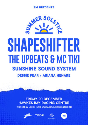 Shapeshifter w/ The Upbeats & MC Tiki + more - Hawke's Bay